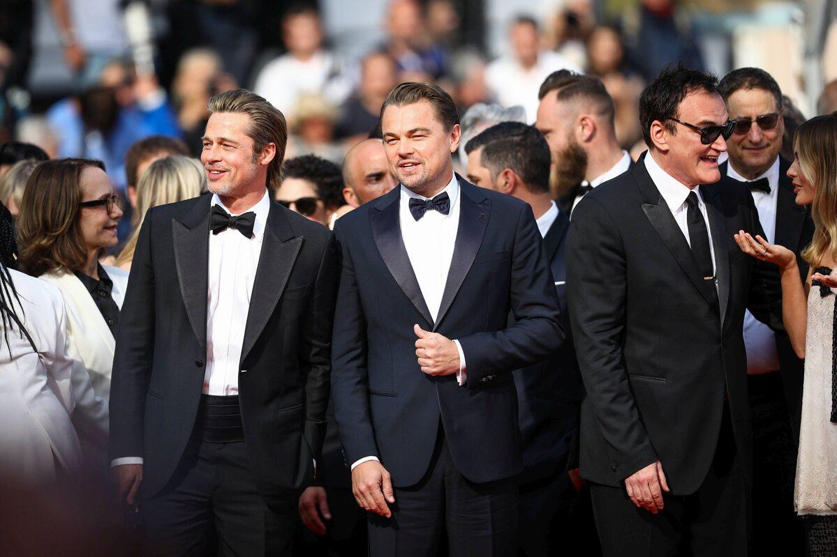 Brad Pitt, Leonardo DiCaprio, Quentin Tarantino i Margot Robbie