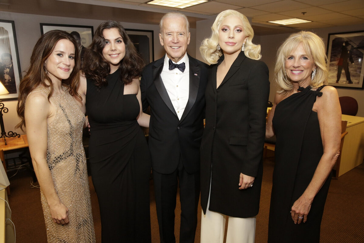 Ashley Biden, Natali Germanotta, Joe Biden, Lady Gaga, Jill Biden