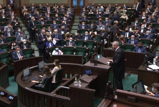 Sejm napoczątku obrad 15 września