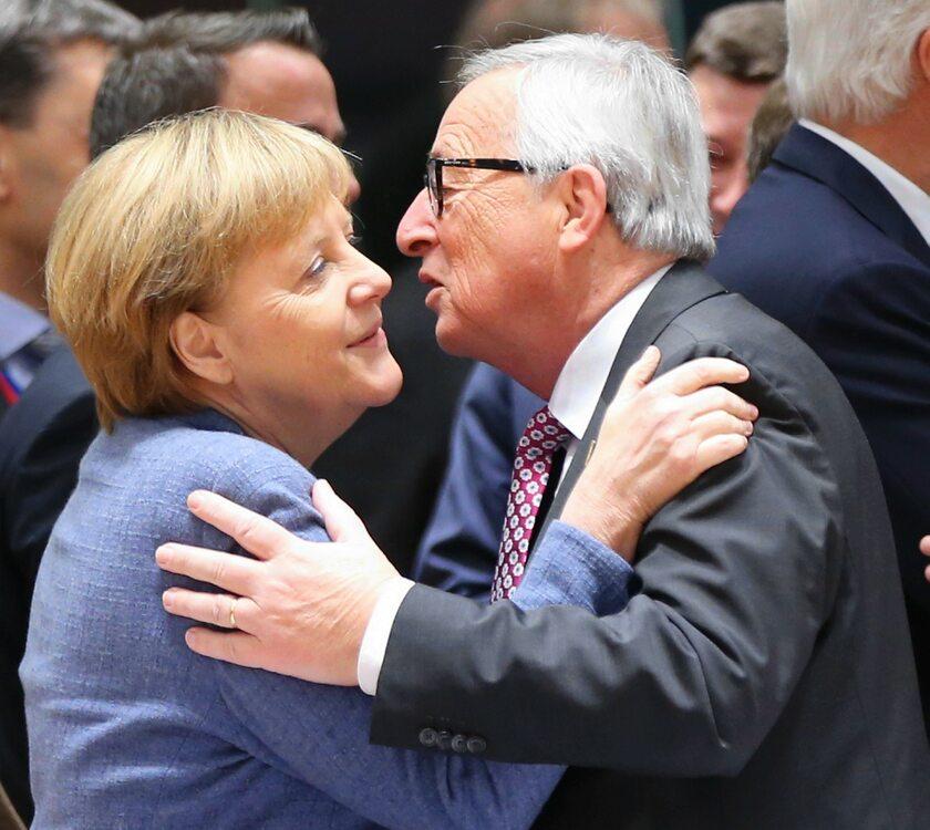Angela Merkerl i Jean-Claude Juncker