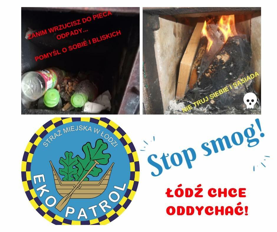 Wpis Straży Miejskiej apelujący o zaprzestanie palenia odpadów w piecach