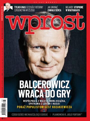 Okładka tygodnika Wprost nr 38/2017 (1803)