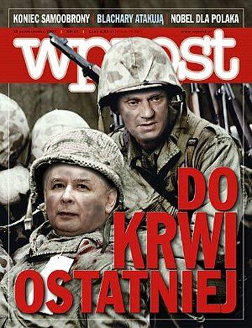 Okładka tygodnika Wprost nr 41/2007 (1294)