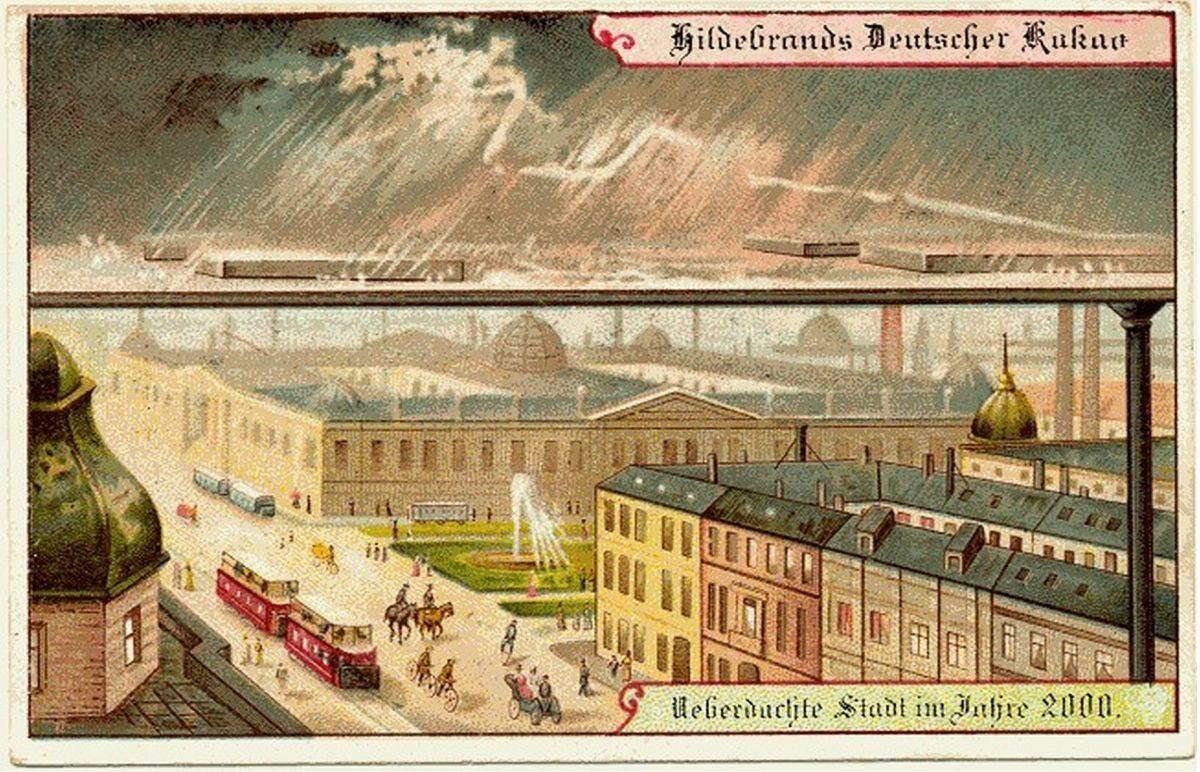 Dach nad miastem chroniący przed złą pogodą