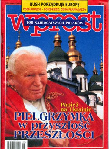 Okładka tygodnika Wprost nr 25/2001 (969)