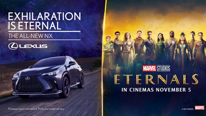 Reklama Lexusa ifilmu Eternals