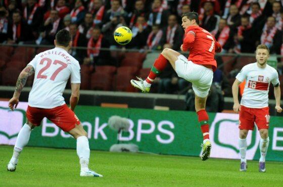 ...prowadzeni do boju przez Cristiano Ronaldo (fot. PAP/ Bartłomiej Zborowski)