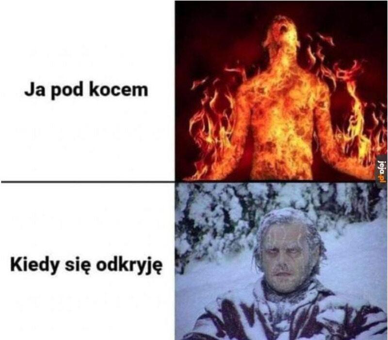 Mem zainspirowany mrozami