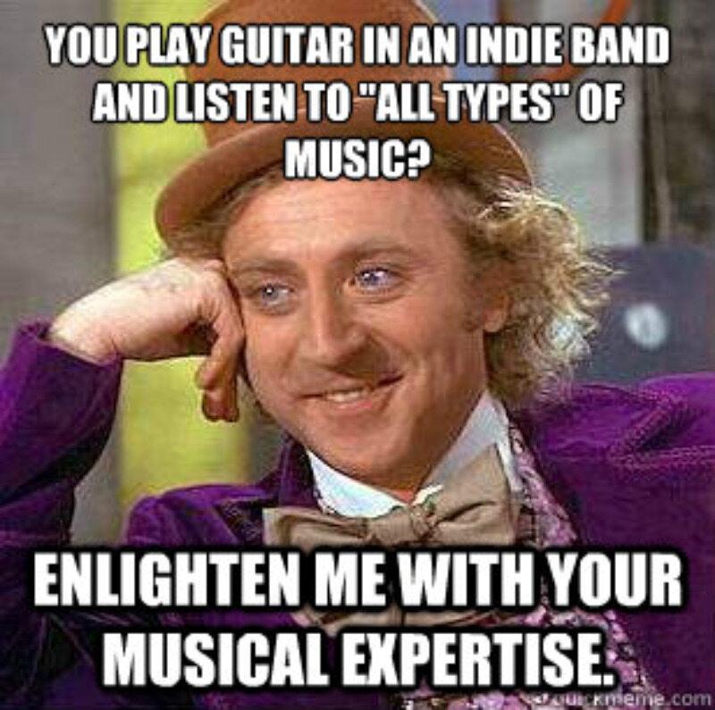 Grasz na gitarze i słuchasz wszystkich rodzajów muzyki? Oświeć mnie muzczyną ekspertyzą