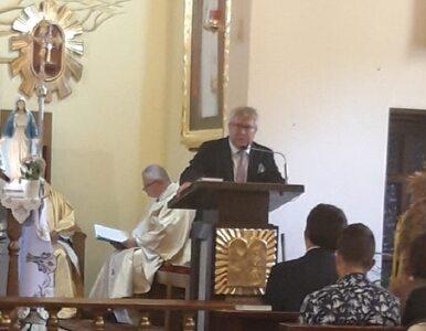 """Czarnecki przemawiał w kościele. """"Było mi bardzo miło, że zostałem..."""