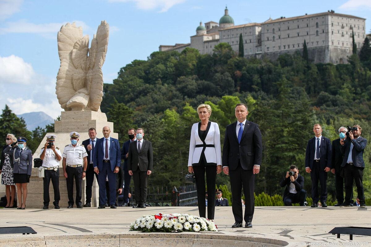 Wizyta pary prezydenckiej na Monte Cassino