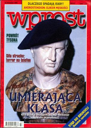 Okładka tygodnika Wprost nr 47/1998 (834)