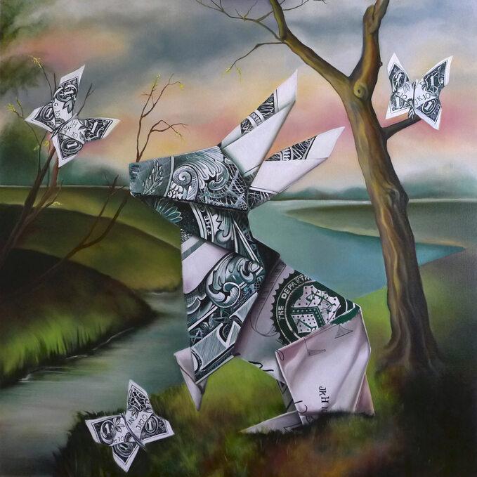 Bunny Money, obraz Justyny Kisielewicz