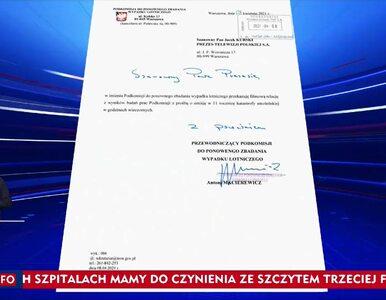 """""""Wiadomości"""" TVP z informacją """"z ostatniej chwili"""". Macierewicz..."""