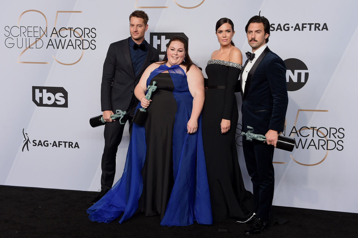 Ben Hardy, Chrissy Metz, Mandy Moore i Milo Ventimiglia