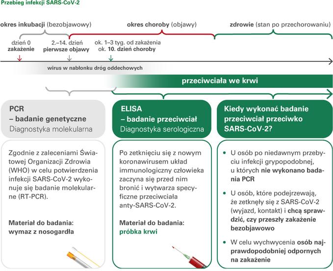 Przebieg infekcji SARS-CoV-2