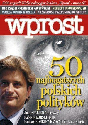 Okładka tygodnika Wprost nr 33/34/2006 (1236)