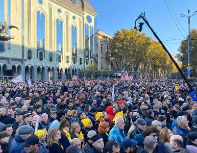 Protesty w Gruzji. Na ulice Tbilisi wyszło 20 tys. osób