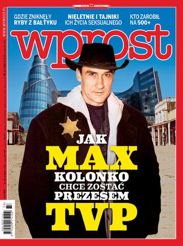 Okładka tygodnika Wprost nr 33/2016 (1749)