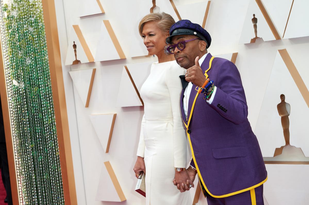 Tonya Lewis Lee i Spike Lee podczas 92. ceremonii rozdania Oscarów w 2020 roku