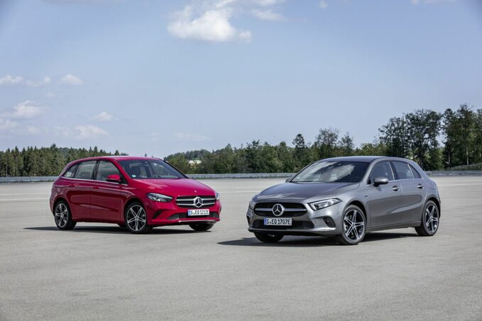 Hybrydowe Mercedesy klasy AiB