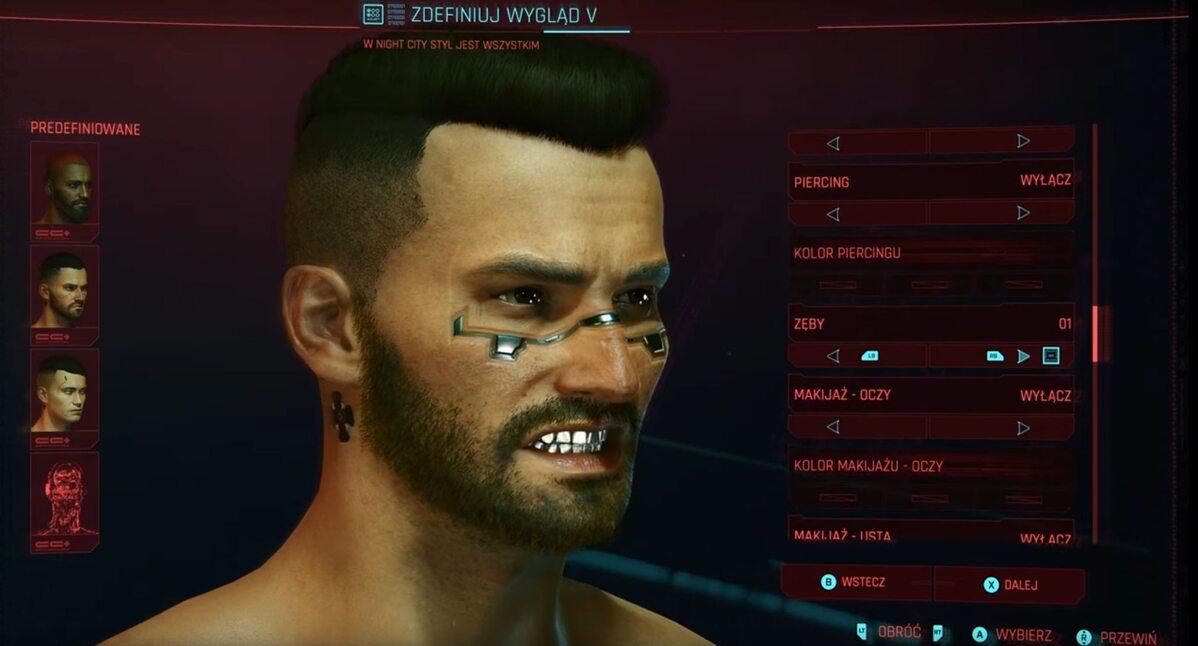 Screen ze zwiastuna gry Cyberpunk 2077