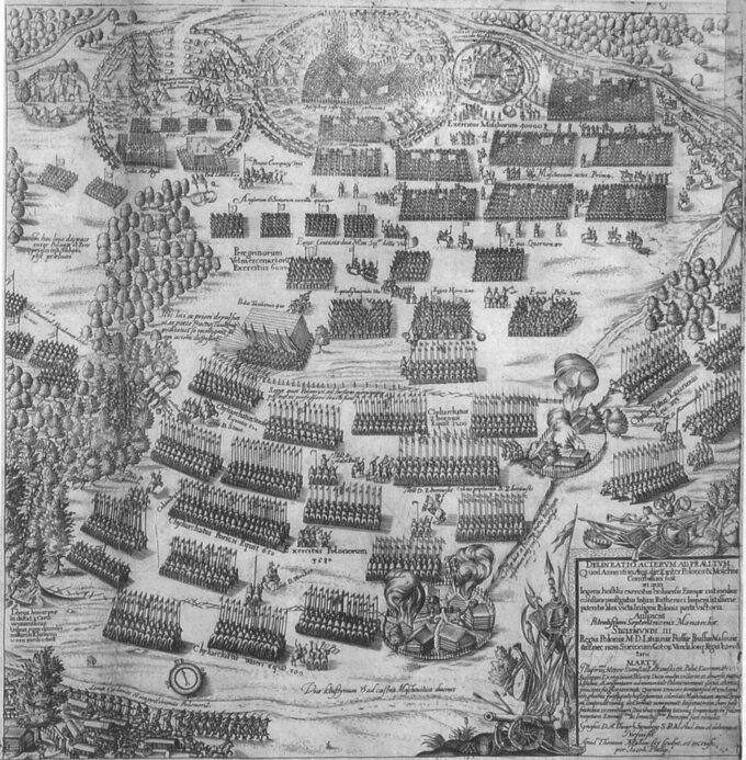 Bitwa podKłuszynem 1610, miedzioryt zXVII wieku