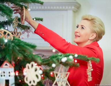W Pałacu Prezydenckim jest już choinka. Agata Kornhauser-Duda postawiła...