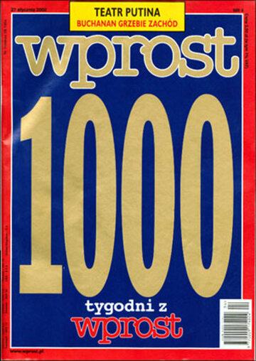 Okładka tygodnika Wprost nr 4/2002 (1000)