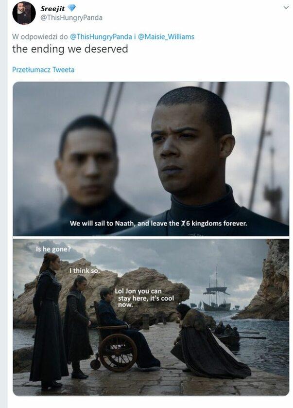 Szary Robak odpływa, a Jon - może zostać?