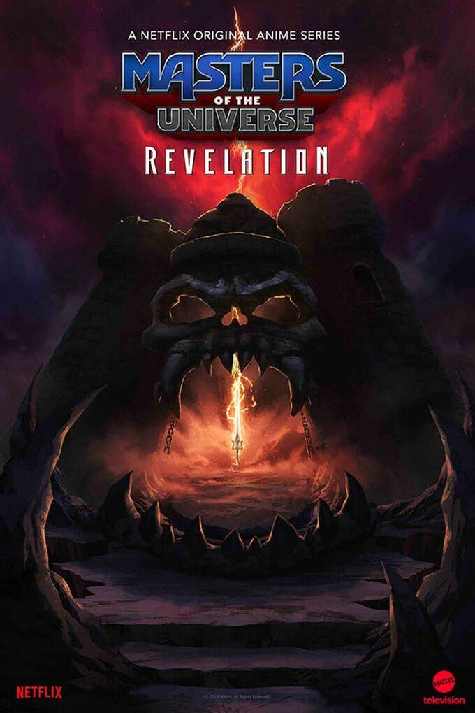 "Plakat serialu ""Master oftheUniverse: Revelation"""