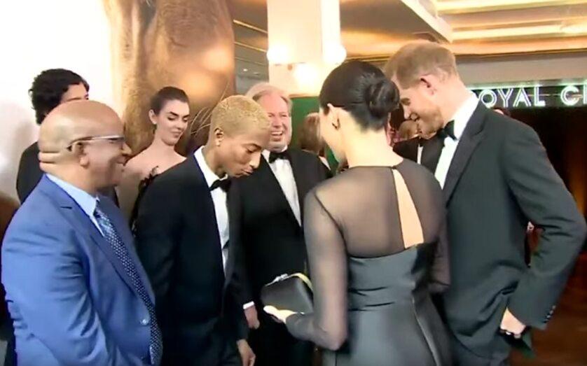 Księżna Meghan, książę Harry i Pharrell Williams