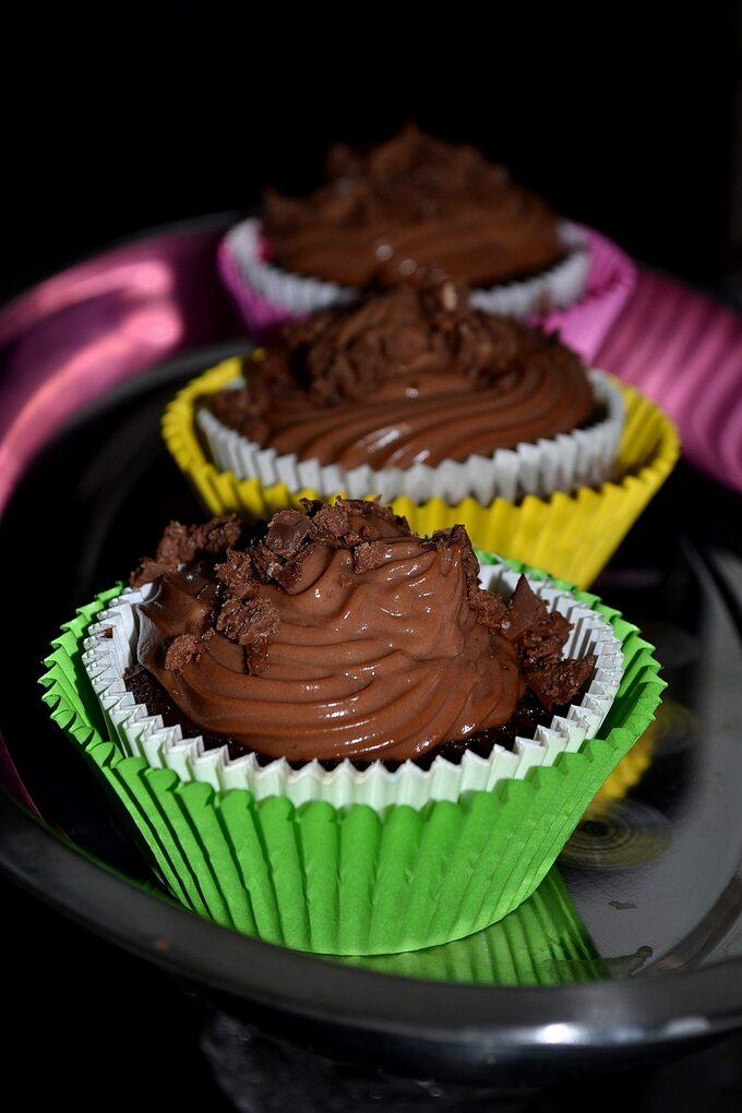 Muffinki jaglano-czekoladowe