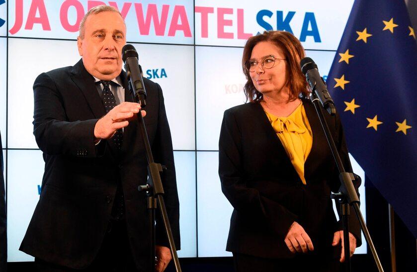 Grzegorz Schetyna i Małgorzata Kidawa-Błońska