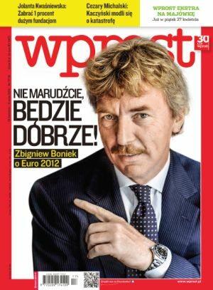 Okładka tygodnika Wprost nr 17/2012 (1523)
