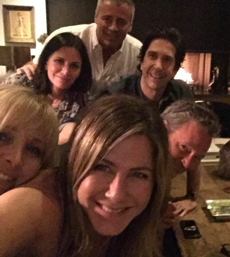 Lisa Kudrow, Courtney Cox, Matt LeBlanc, David Schwimmer, Matthew Perry i Jennifer Aniston