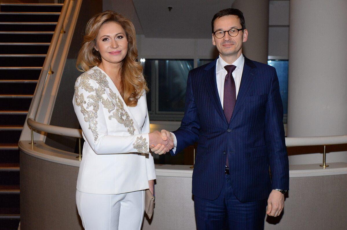 Katarzyna Gintrowska i premier Mateusz Morawiecki