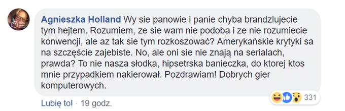 Komentarz Agnieszki Holland