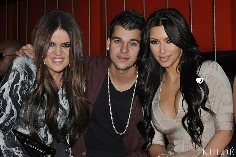Khloe Kardashian, Rob Kardashian i Kim Kardashian