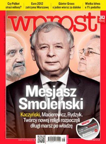 Okładka tygodnika Wprost nr 16/2012 (1522)