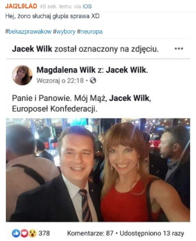 Mem oprzegranej Konfederacji KORWiN Braun Liroy Narodowcy wwyborach doeuroparlamentu