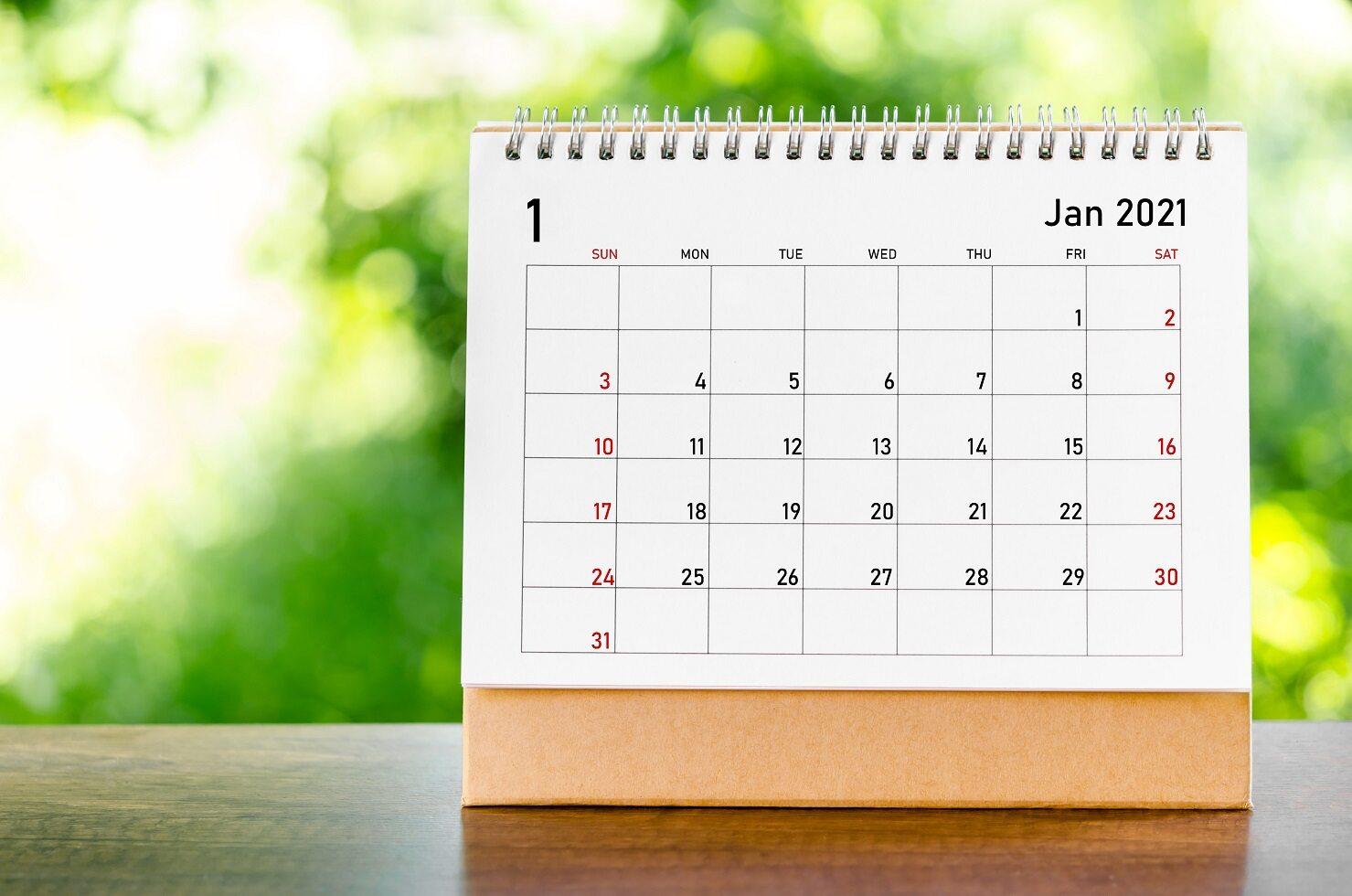 1 stycznia w kalendarzu