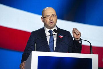 Adam Bielan podczas zjazdu Partii Republikańskiej