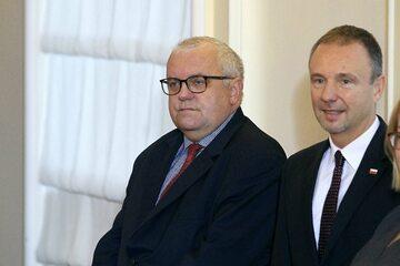 Adam Lipiński (z lewej)