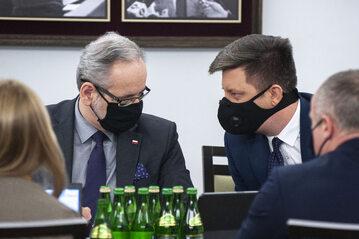 Adam Niedzielski i Michał Dworczyk