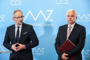 Adam Niedzielski i Waldemar Kraska