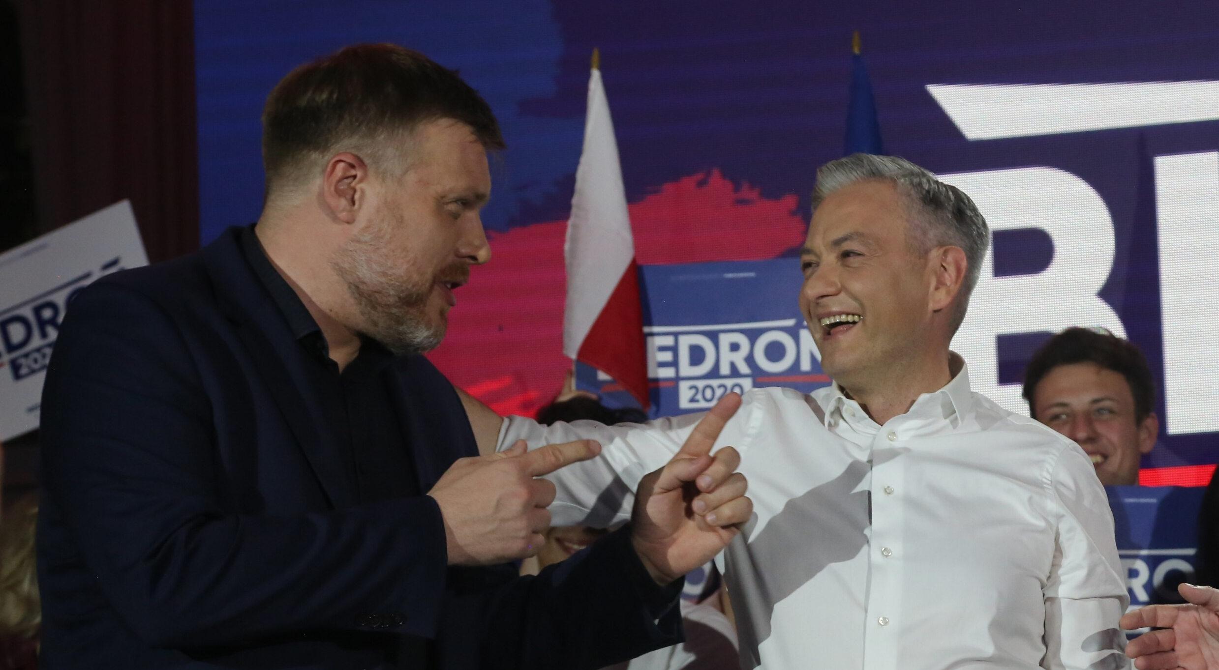 Adrian Zandberg i Robert Biedroń