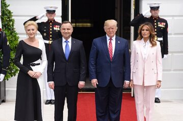 Agata Kornhauser-Duda, Andrzej Duda, Donald Trump, Melania Trump