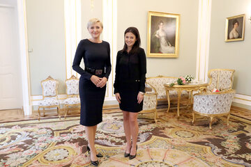 Agata Kornhauser-Duda i Anna Lewandowska