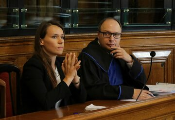 Agnieszka Pomaska w trakcie rozprawy przed gdańskim sadem